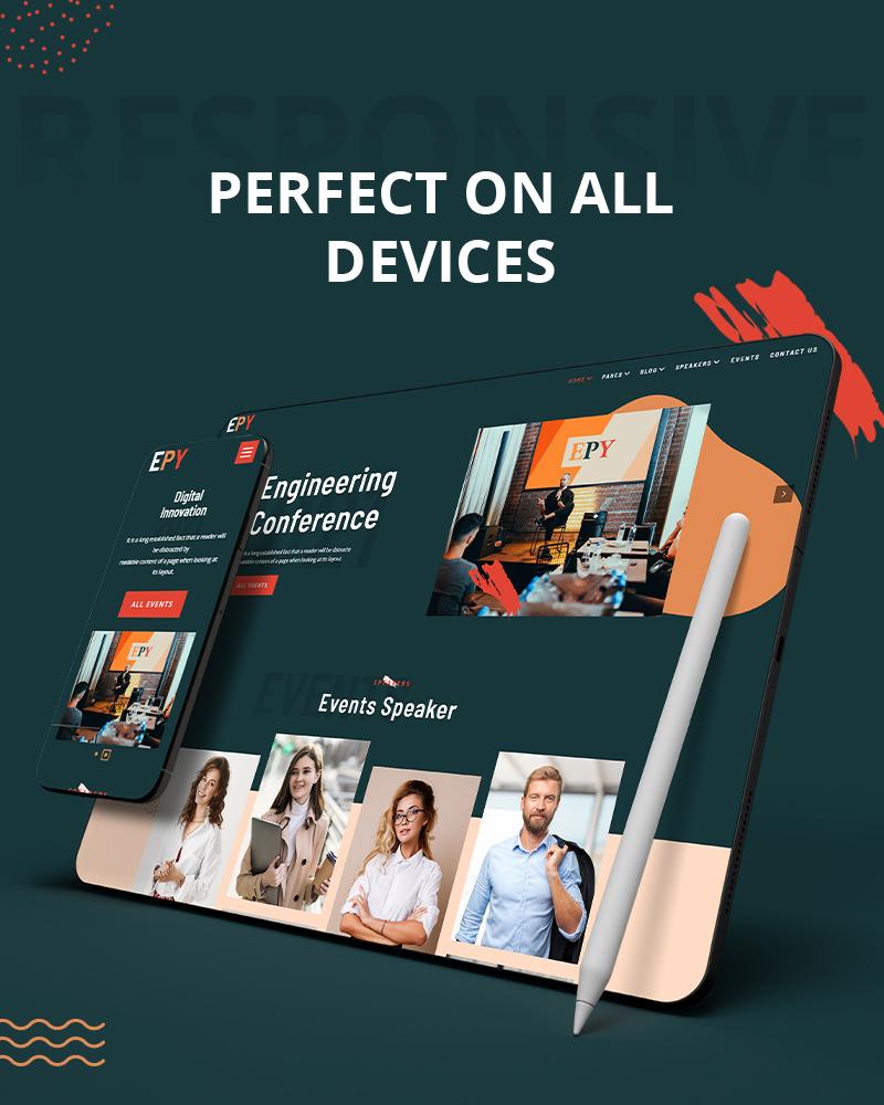 WordPress Conference Theme | EPY | Iqonic Design event conference wordpress theme Epy 06