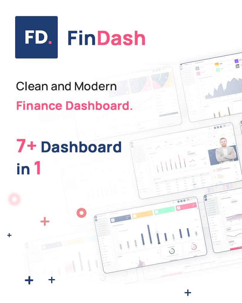 FinDash - Vuejs, HTML Finance Sales Dashboard. - 6 vue js html finance sales dashboard FinDash 1