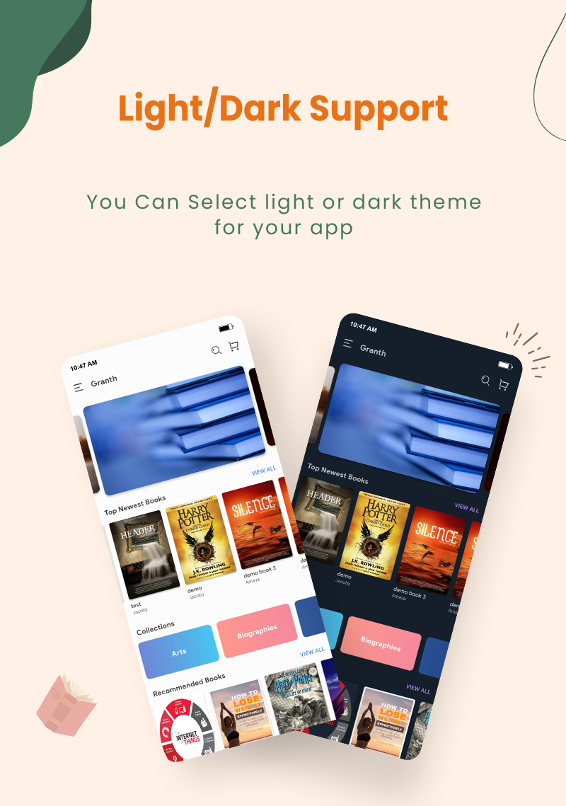 preview1 flutter ebook app with admin panel Granth 18