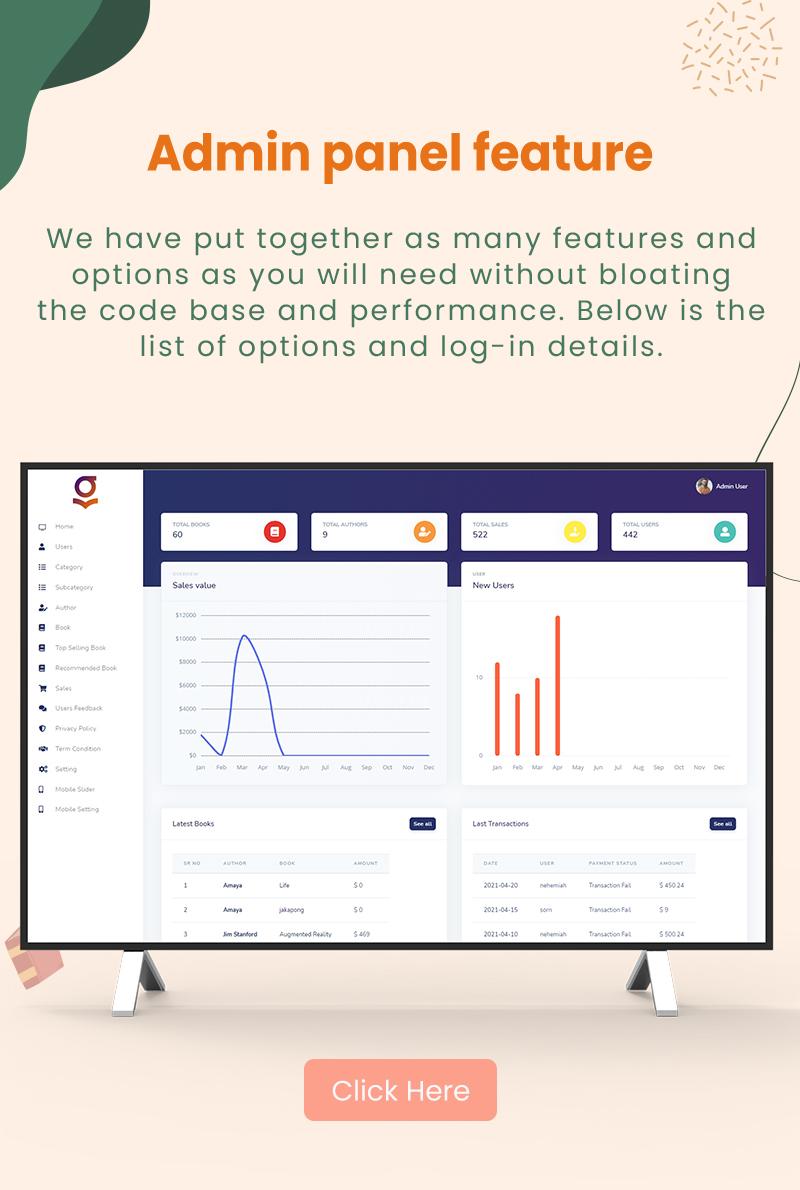 Granth - Flutter Ebook App + Admin panel - 4 flutter ebook app with admin panel Granth 20