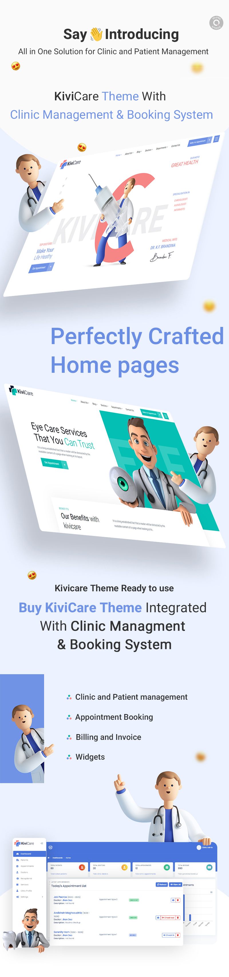 Medical Clinic WordPress Theme   KiviCare   Iqonic Design medical clinic and patient management wordpress theme KiviCare 2