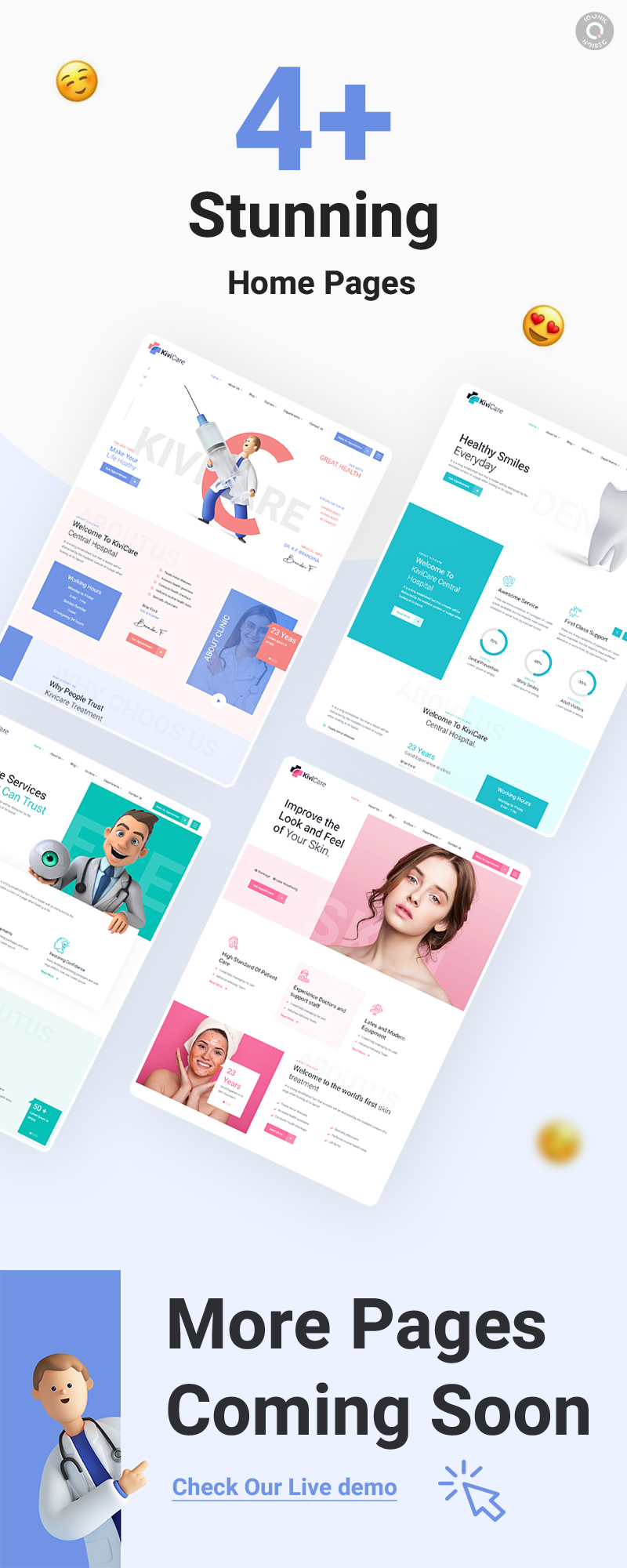 Best Medical and Health WordPress Theme   KiviCare   Iqonic Design medical clinic and patient management wordpress theme KiviCare 3