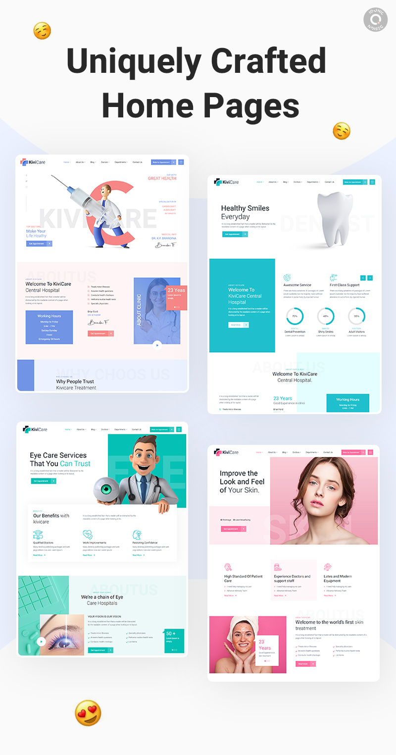 Medical Clinic WordPress Theme   KiviCare   Iqonic Design medical clinic and patient management wordpress theme KiviCare 6