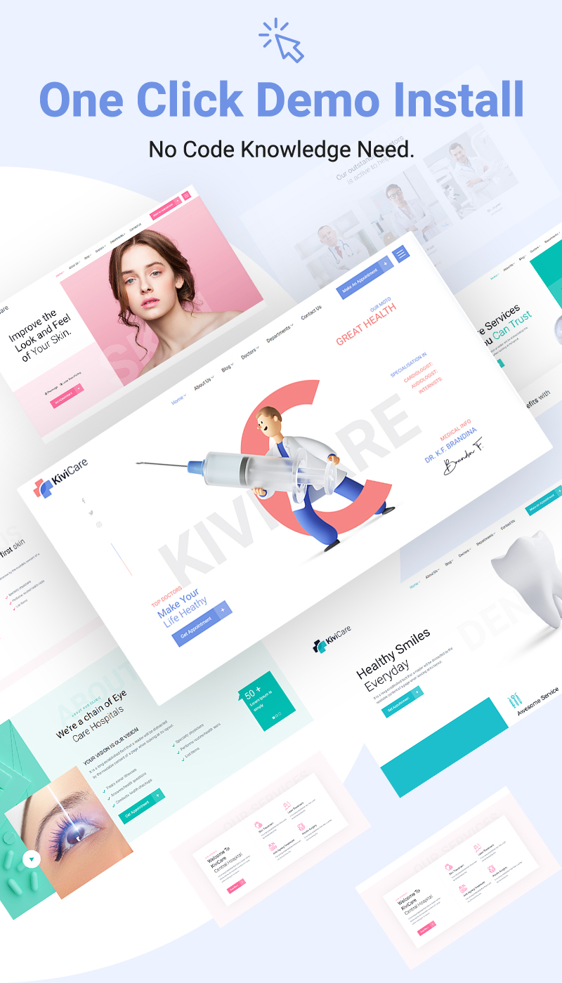 Best Medical and Health WordPress Theme   KiviCare   Iqonic Design medical clinic and patient management wordpress theme KiviCare 8