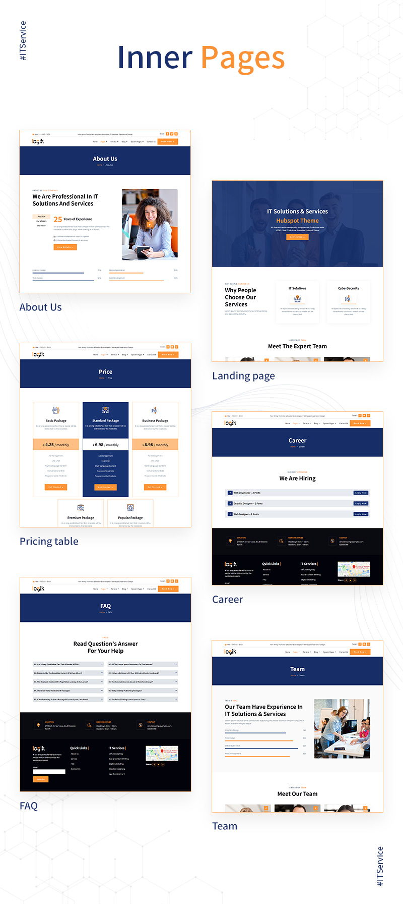 intro it solutions and technology hubspot theme Logik 03