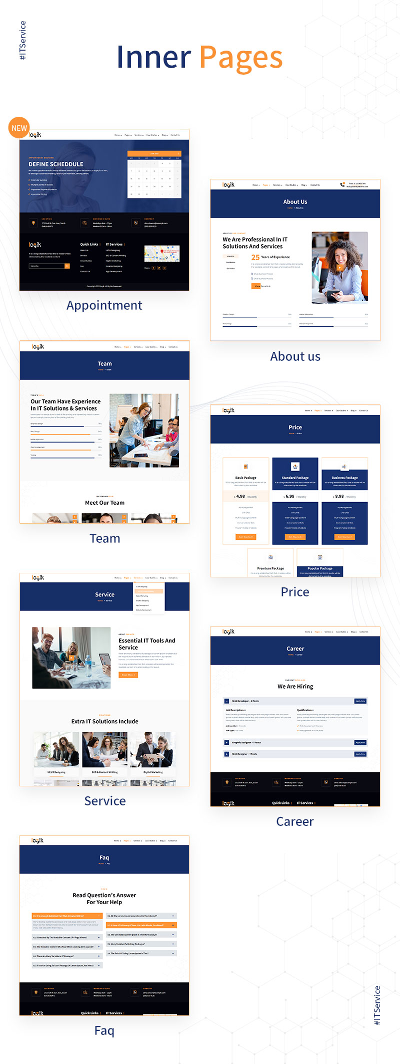 WordPress Themes for IT Company | Logik | Iqonic Design it solutions and technology wordpress theme Logik 03 innerpages new
