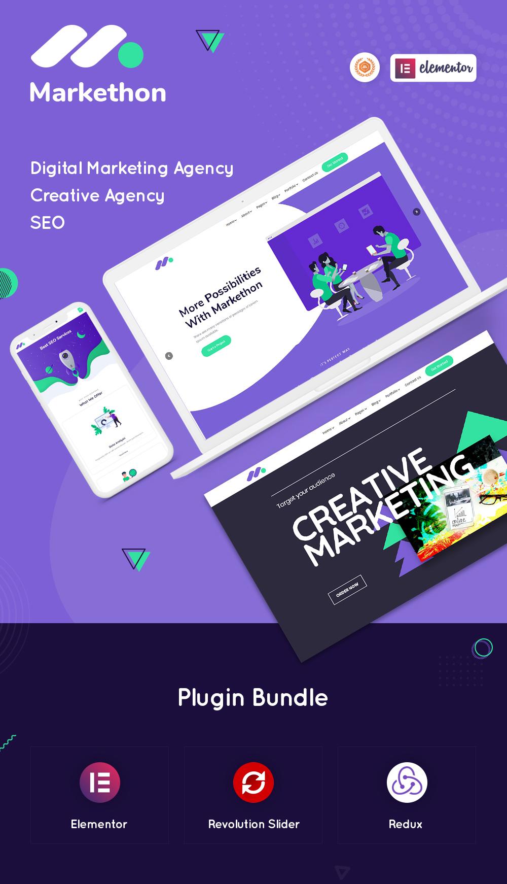 Markethon - SEO & Digital Marketing Agency Portfolio WordPress Theme - 5 seo and digital marketing agency portfolio wordpress theme Markethon part 1