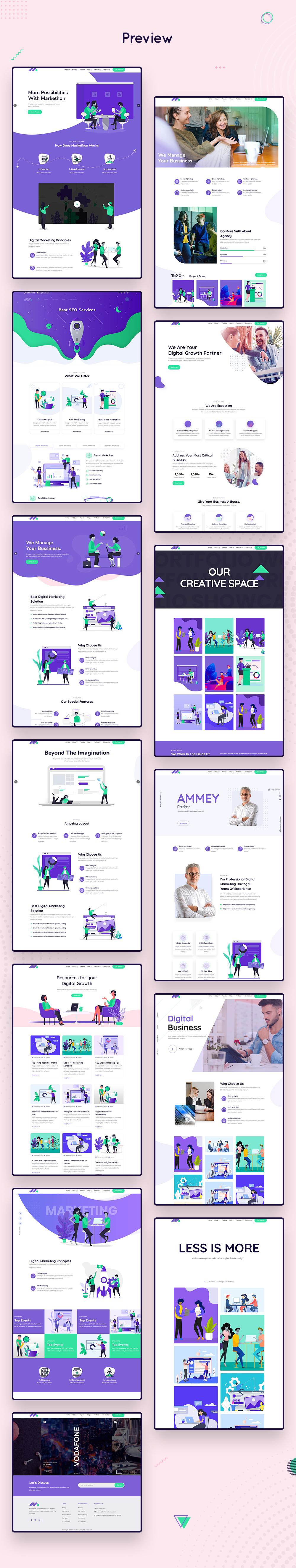 Markethon - SEO & Digital Marketing Agency Portfolio WordPress Theme - 7 seo and digital marketing agency portfolio wordpress theme Markethon part 3