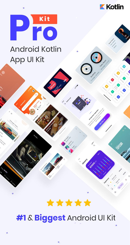 Prokit - Biggest Android UI Kit - 4 biggest android ui kit Prokit 1
