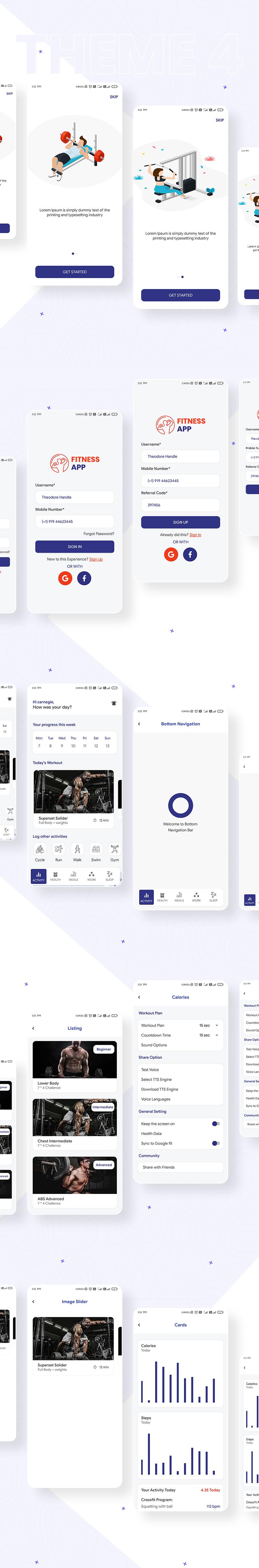 Prokit - Biggest Android UI Kit - 21 biggest android ui kit Prokit theme 4