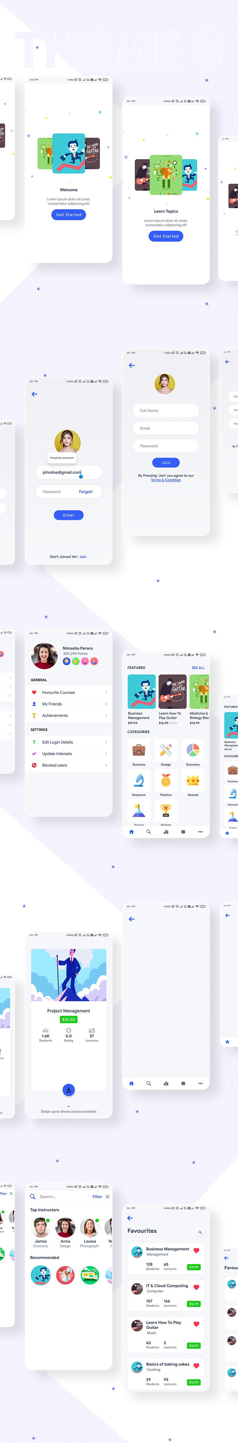 Prokit - Biggest Android UI Kit - 24 biggest android ui kit Prokit theme 7