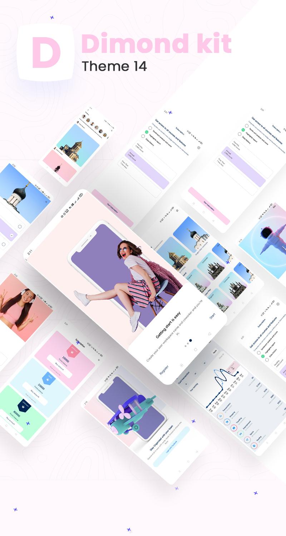 Flutter Mobile App Templates | Prokit | Iqonic Design biggest flutter 2.0 ui kit ProKit dimond kit