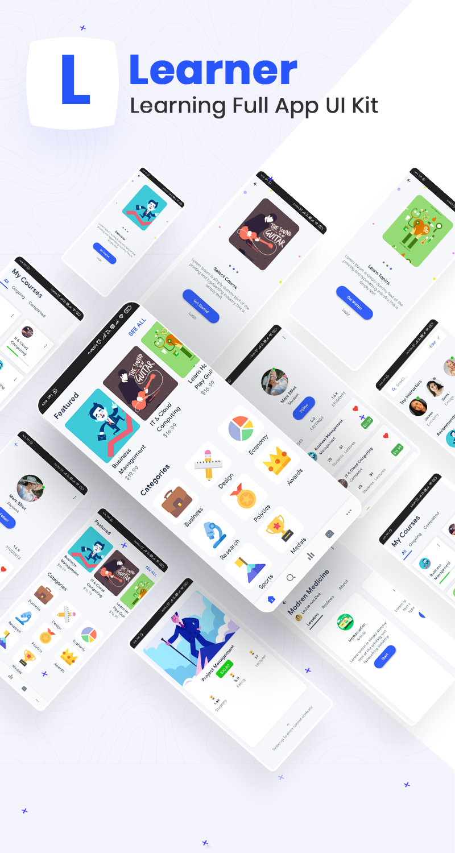 Learning Full App UI Kit | Iqonic Design biggest flutter 2.0 ui kit ProKit full app 2