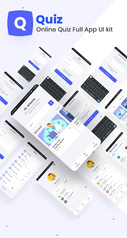 Online Quiz Full App UI Kit | Iqonic Design biggest flutter 2.0 ui kit ProKit full app 3
