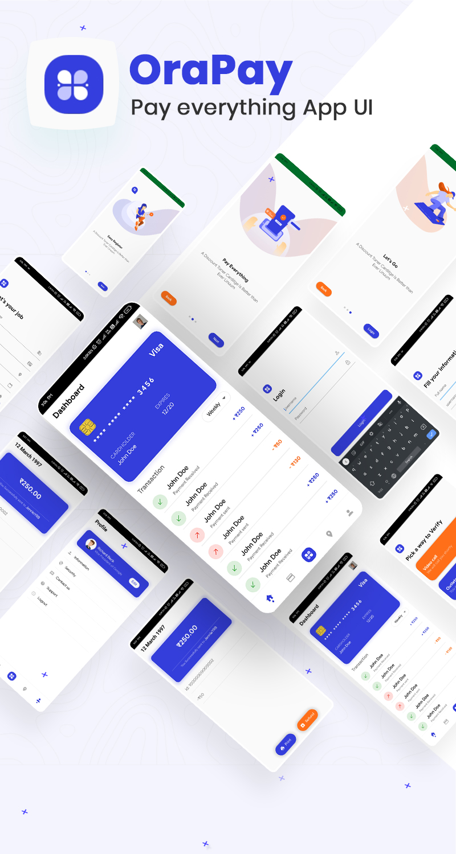Pay Everything App UI | OraPay | Iqonic Design biggest flutter 2.0 ui kit ProKit full app 8