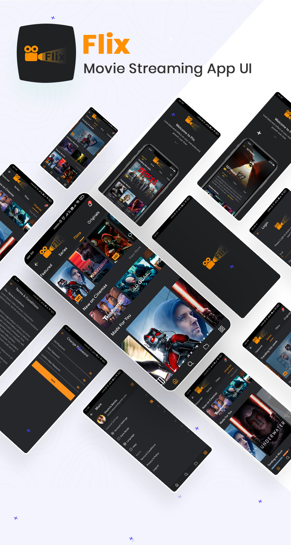 Movie Streaming App UI | Flix | Iqonic Design biggest flutter 2.0 ui kit ProKit full app 9