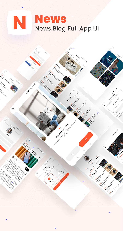 News Blog Full App UI | News | Iqonic Design biggest flutter 2.0 ui kit ProKit news photo