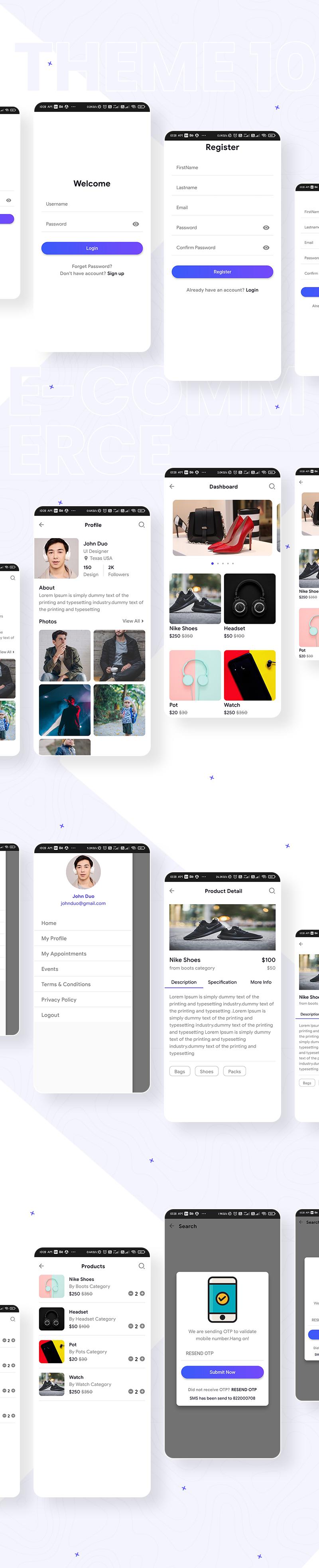 Biggest Flutter 2.0 UI Kit | Prokit | Iqonic Design biggest flutter 2.0 ui kit ProKit theme 10
