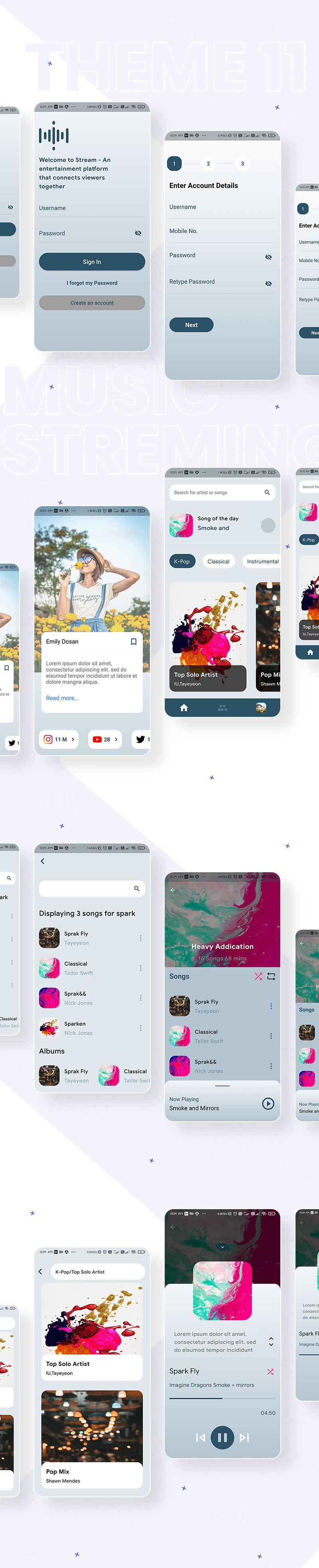 Flutter UI Kits | Prokit | Iqonic Design biggest flutter 2.0 ui kit ProKit theme 11