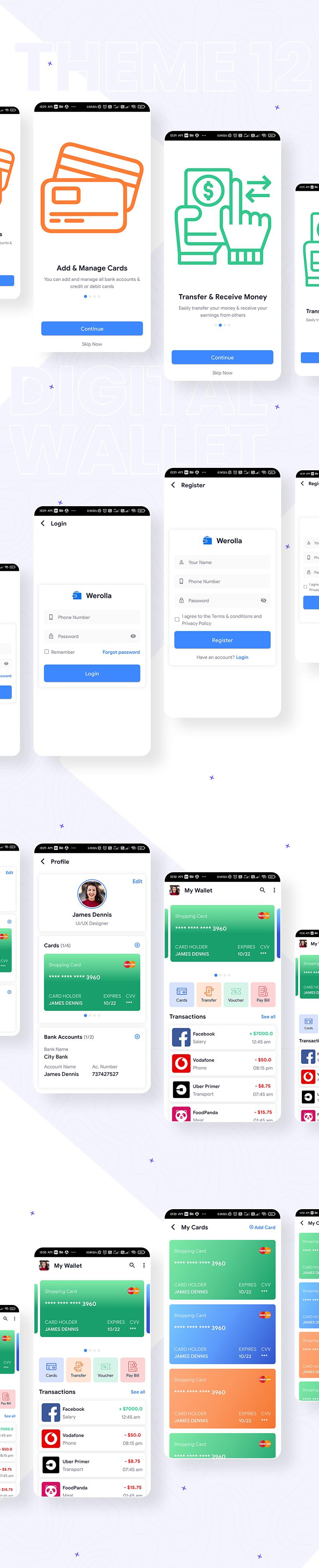 Best Flutter UI Templates | Prokit | Iqonic Design biggest flutter 2.0 ui kit ProKit theme 12