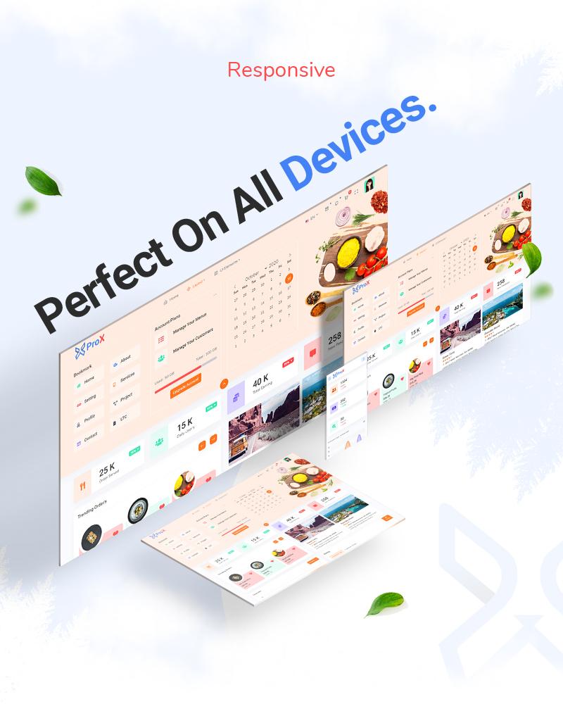 ProX - Multipurpose VueJS, HTML, SCSS Admin Template + Landing Pages - 16