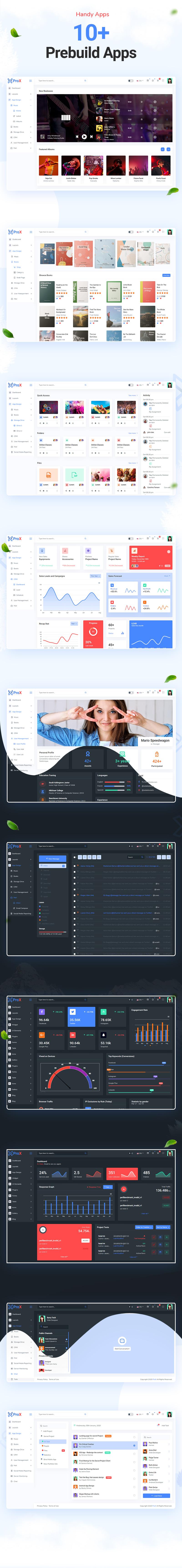 ProX - Multipurpose VueJS, HTML, SCSS Admin Template + Landing Pages - 12