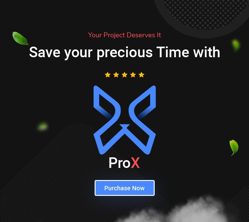 ProX - Multipurpose VueJS, HTML, SCSS Admin Template + Landing Pages - 21