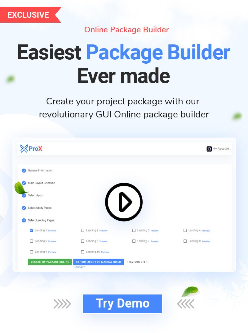 ProX - Multipurpose VueJS, HTML, SCSS Admin Template + Landing Pages - 7