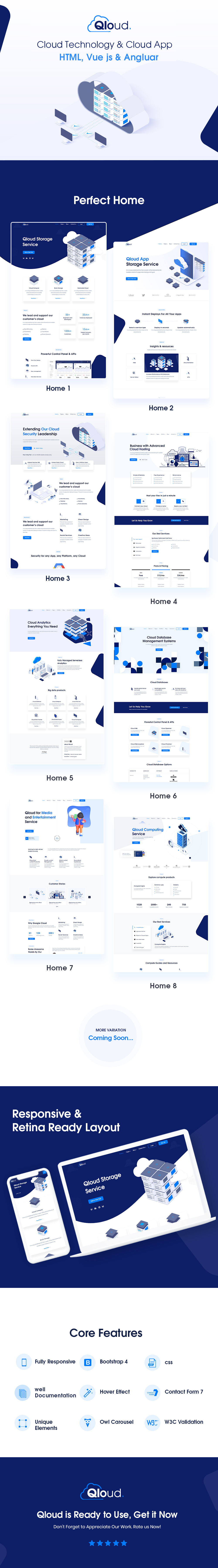 WordPress WHMCS Hosting Theme | Qloud | Iqonic Design cloud computing, apps and server html, whmcs, vue & angular template Qloud qloud html