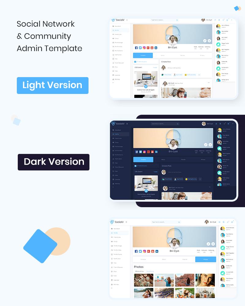 Social Networking Website Templates | SocialV | Iqonic Design vue js html social network and community admin template SocialV n1