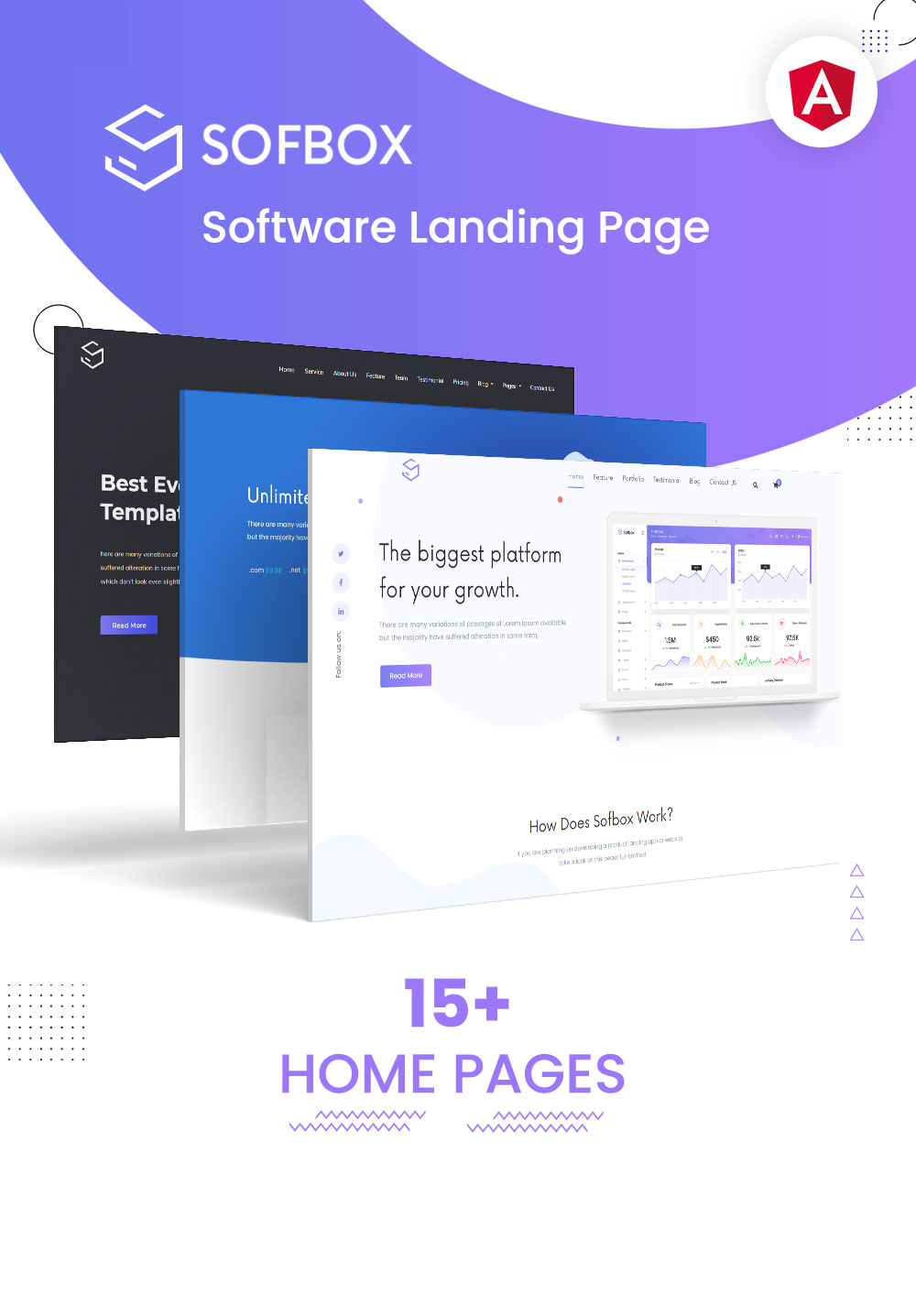 Sofbox - Angular 9 Software SaaS Landing Page - 1 angular 9 software saas landing page Sofbox angular