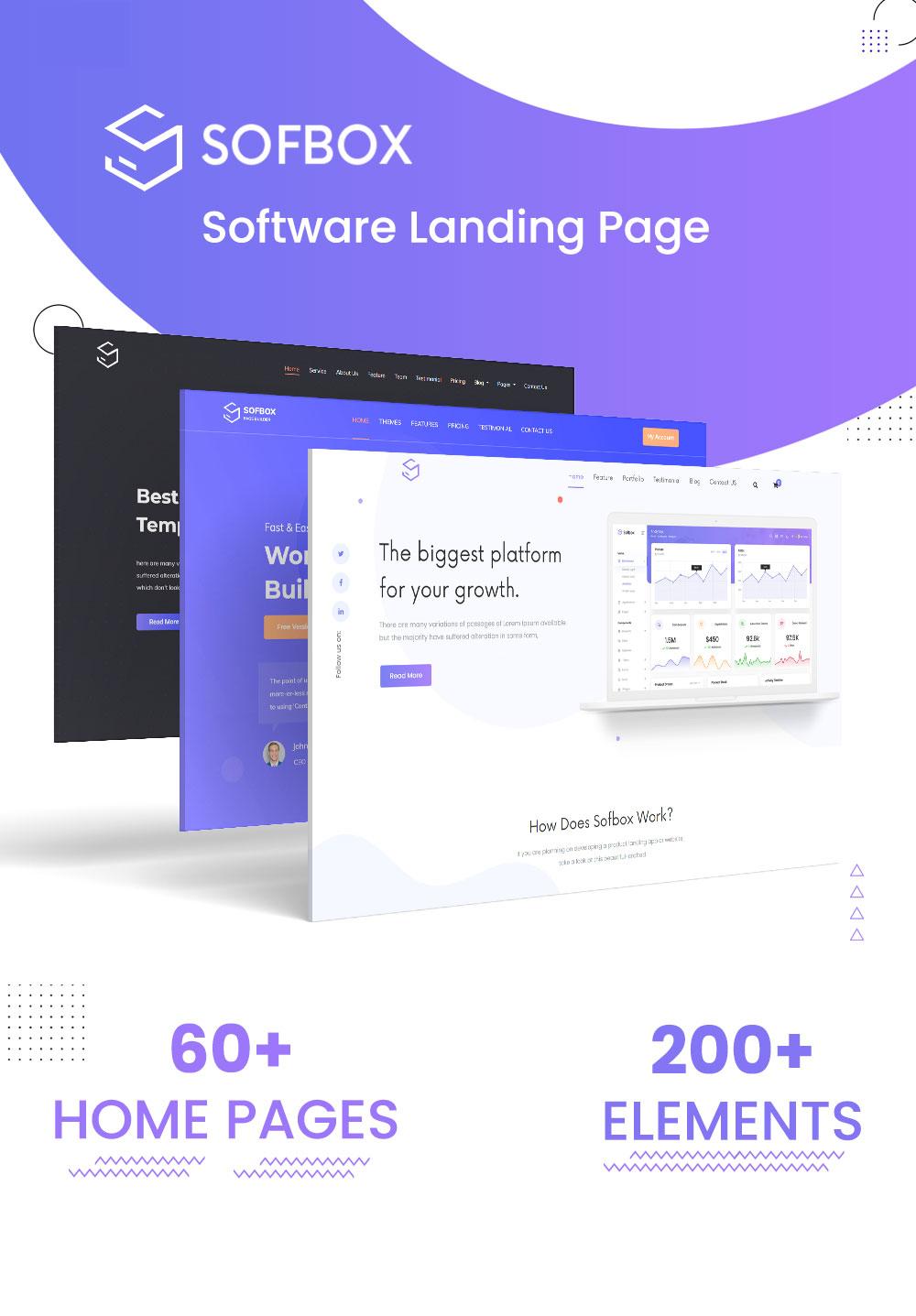 Software Responsive HTML5 Template   SofBox   Iqonic Design software responsive html5 template Sofbox html1
