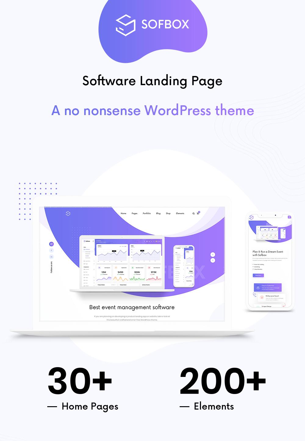 tech & saas multipurpose software landing page Sofbox n1