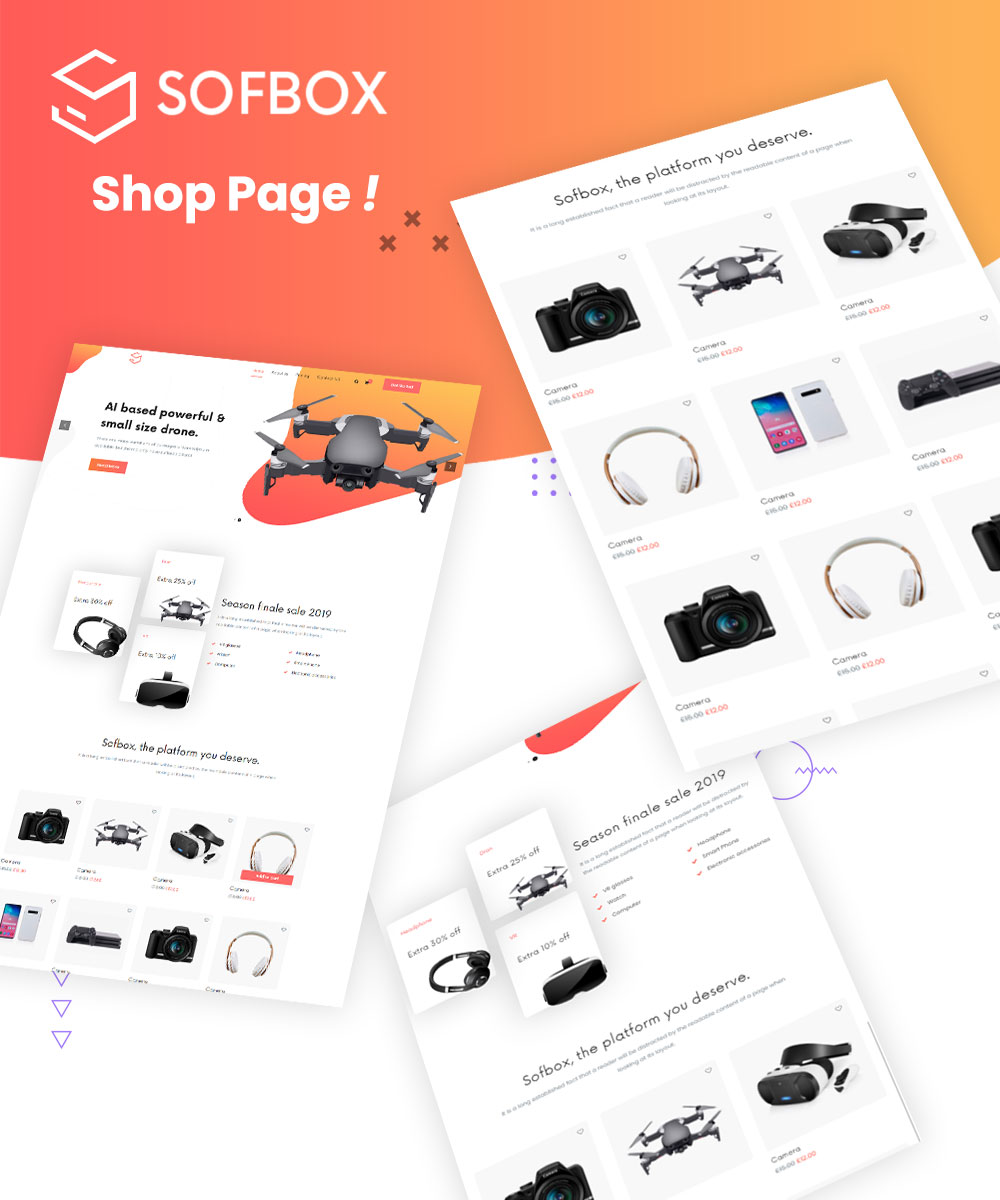 Best Landing Page Software   SofBox   Iqonic Design software responsive html5 template Sofbox sofbox shop page