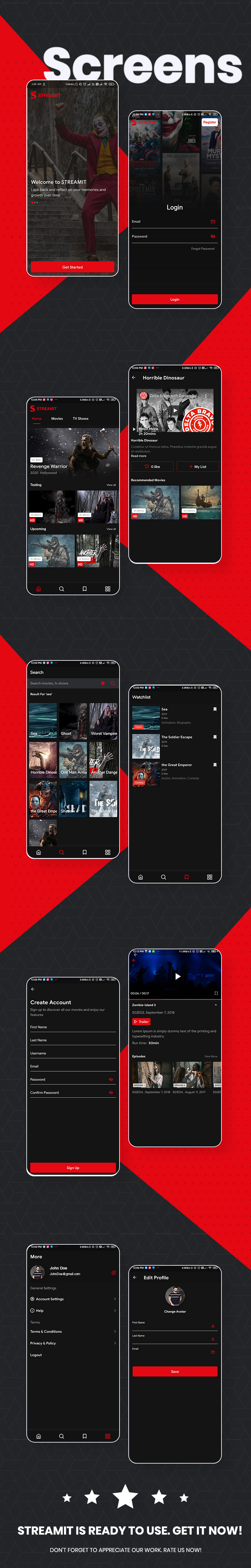 Best Video Streaming App | Streamit | Iqonic Design flutter full app for video streaming with wordpress backend Streamit MobileScreen1