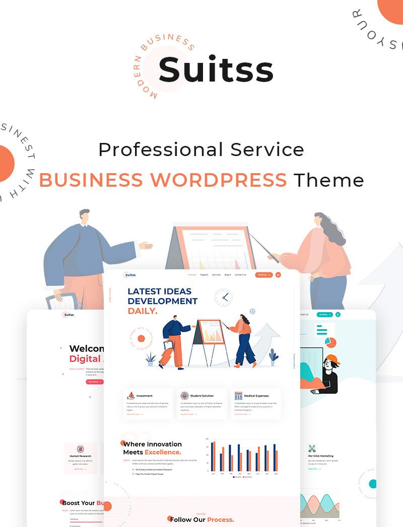 Suitss   Startup Business WordPress theme - 5 startup business wordpress theme Suitss 01 banners