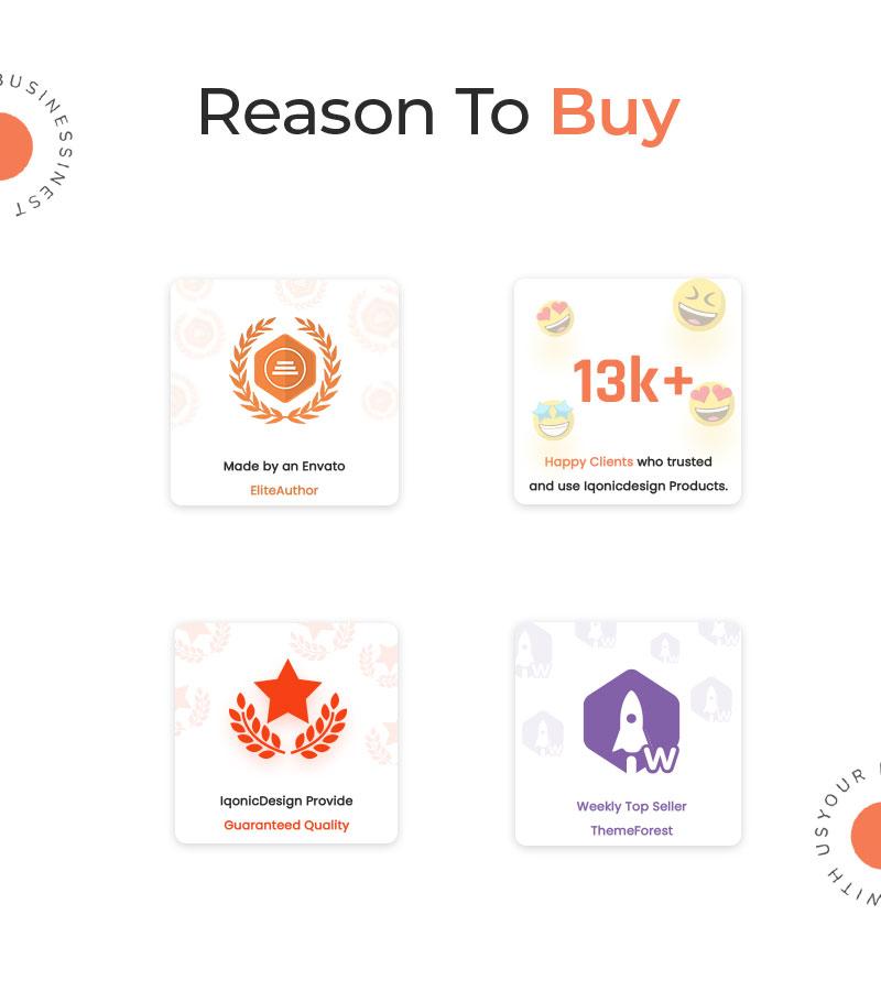 Suitss   Startup Business WordPress theme - 10 startup business wordpress theme Suitss 06 Reason to buy