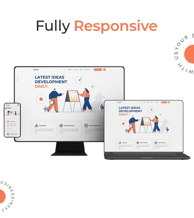 Suitss   Startup Business WordPress theme - 13 startup business wordpress theme Suitss 09 Responsive