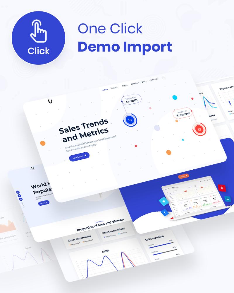 Reporting and Infographic WordPress Theme | Umetric | Iqonic Design wordpress dashboard reporting and infographic theme Umetric 5