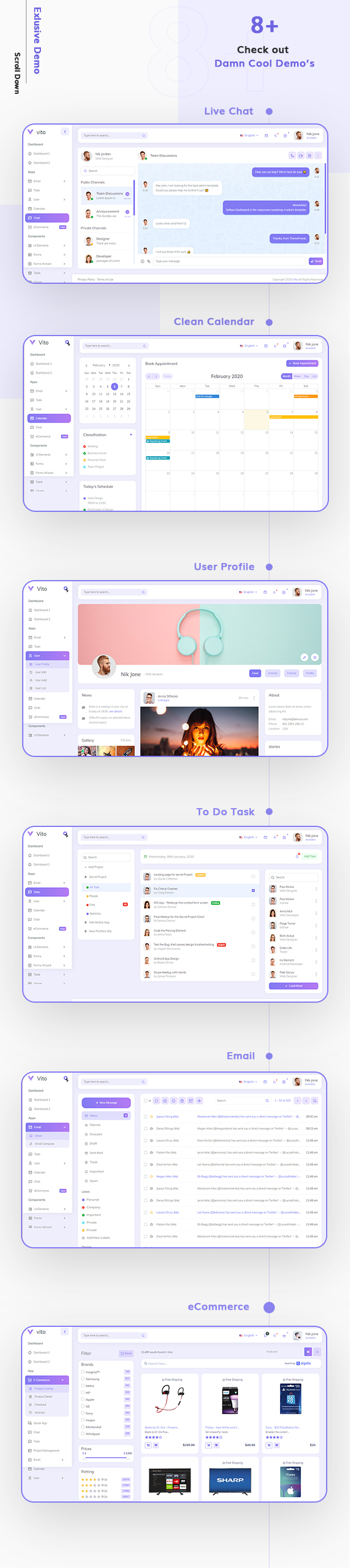 Vue Laravel HTML Admin Dashboard Template | Vito | Iqonic Design vue laravel html admin dashboard template Vito 91