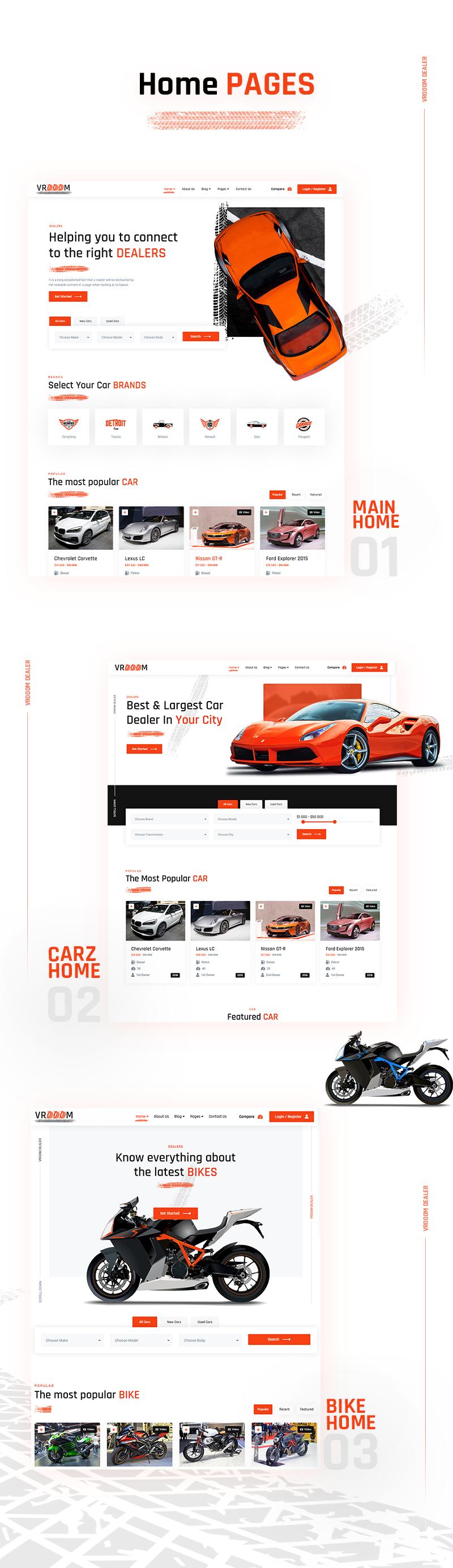 Vrooom - Auto Dealer WordPress Theme - 7 auto dealer wordpress theme Vrooom 02