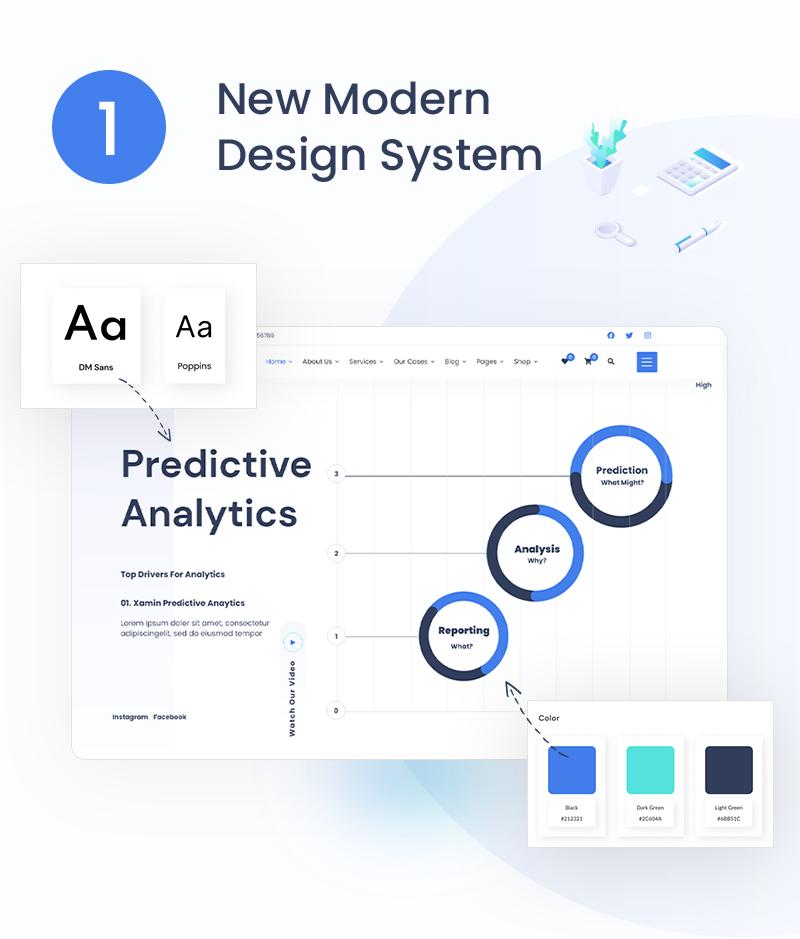 Xamin | Data Analytics WordPress Theme data science and analytics saas wordpress theme Xamin 1 new modern design
