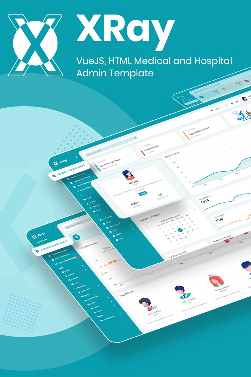 VueJS HTML Medical and Hospital Admin Template | XRay | Iqonic Design vuejs html medical and hospital admin template XRay n1