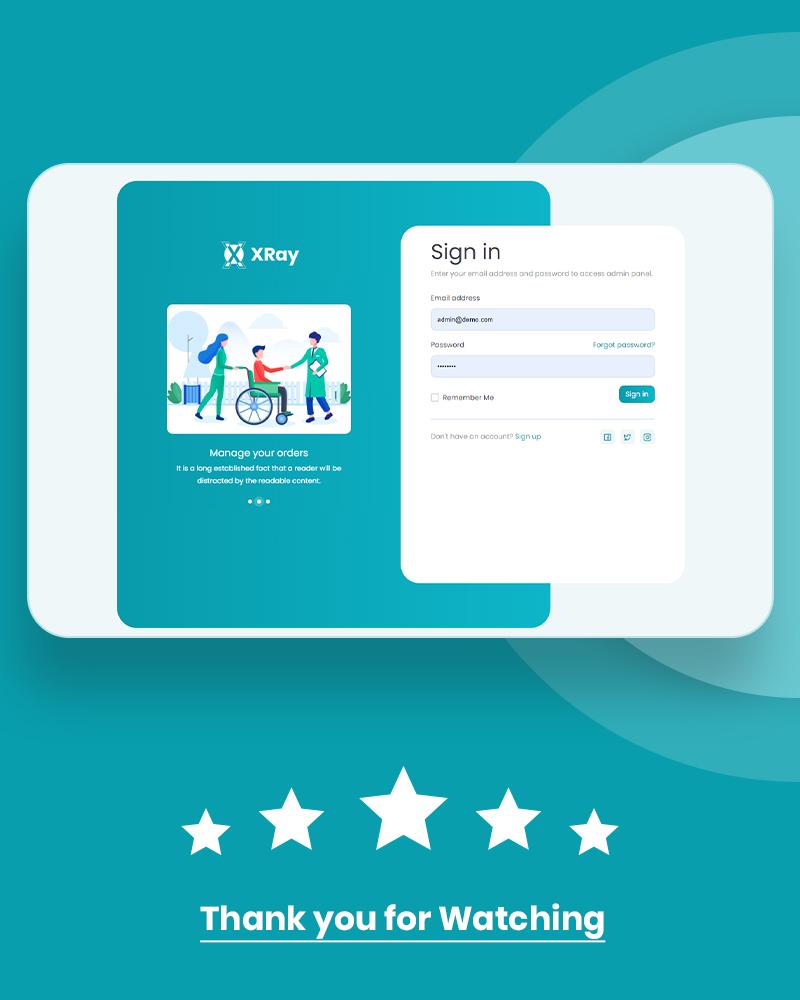 Medical and Hospital Admin Dashboard | XRay | Iqonic Design vuejs html medical and hospital admin template XRay n6