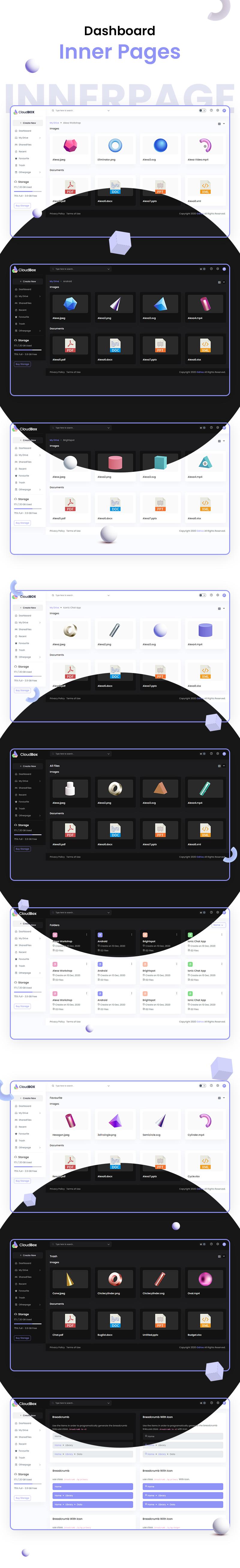 CloudBox | VueJS, HTML File Storage Admin Dashboard Template - 10 vuejs html file storage admin dashboard template CloudBox 4