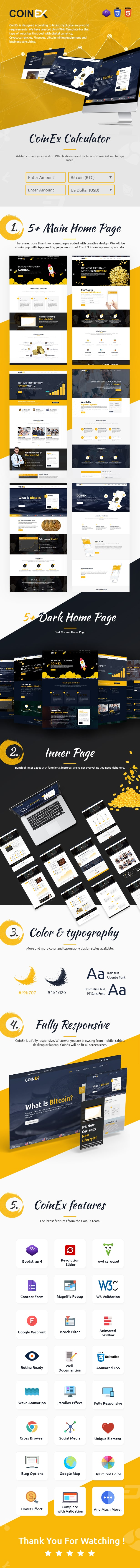 # ico bitcoin and crypto currency html template COINEX livepreview