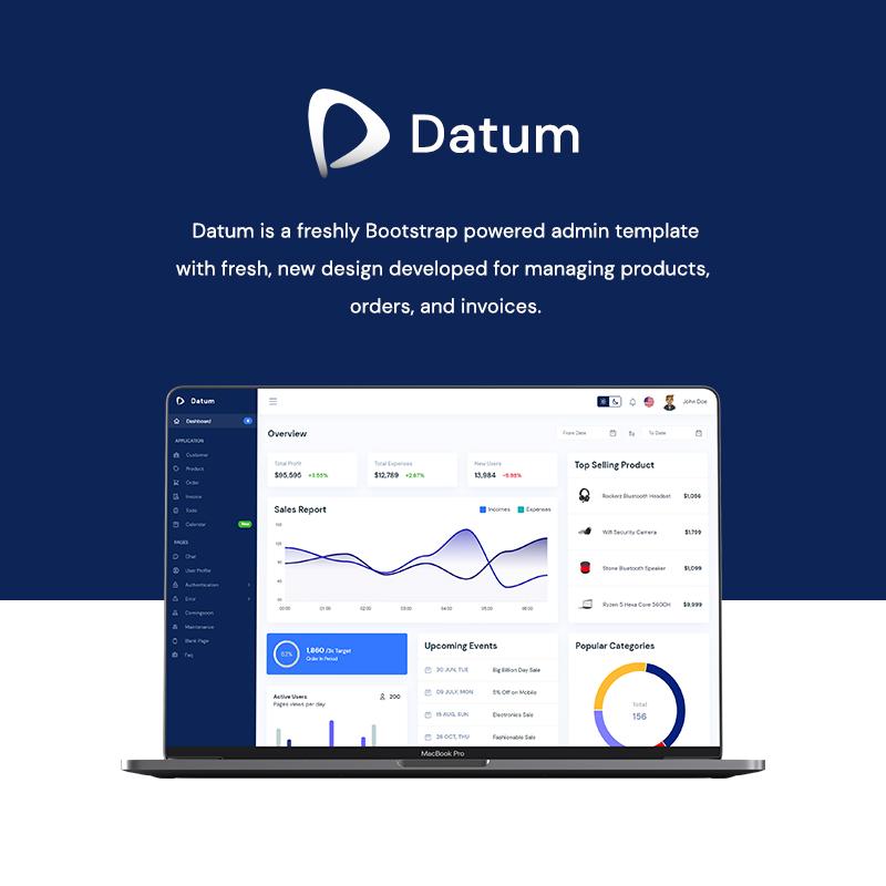 Datum - React, Vue, Laravel, HTML CRM Admin Dashboard Template - 9