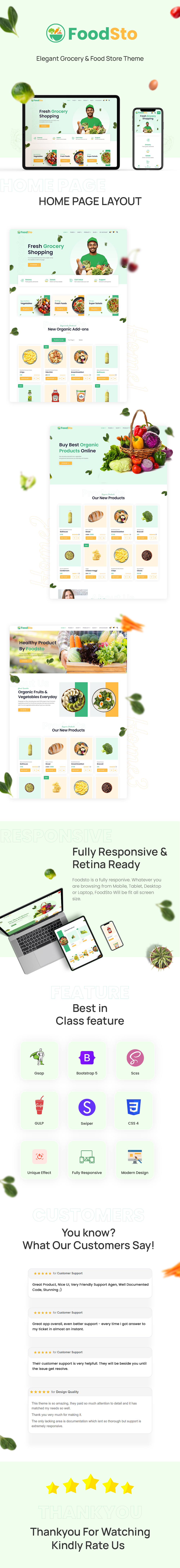 Grocery and Food Store HBS SCSS and HTML Theme   FoodSto   Iqonic Design grocery and food store hbs scss and html theme Foodsto foodsto long preview