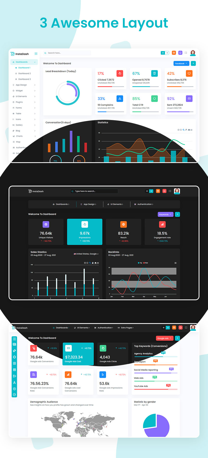 VueJS HTML and SCSS Reporting Admin Dashboard | InstaDash | Iqonic Design vuejs html and scss reporting admin dashboard Instadash 4