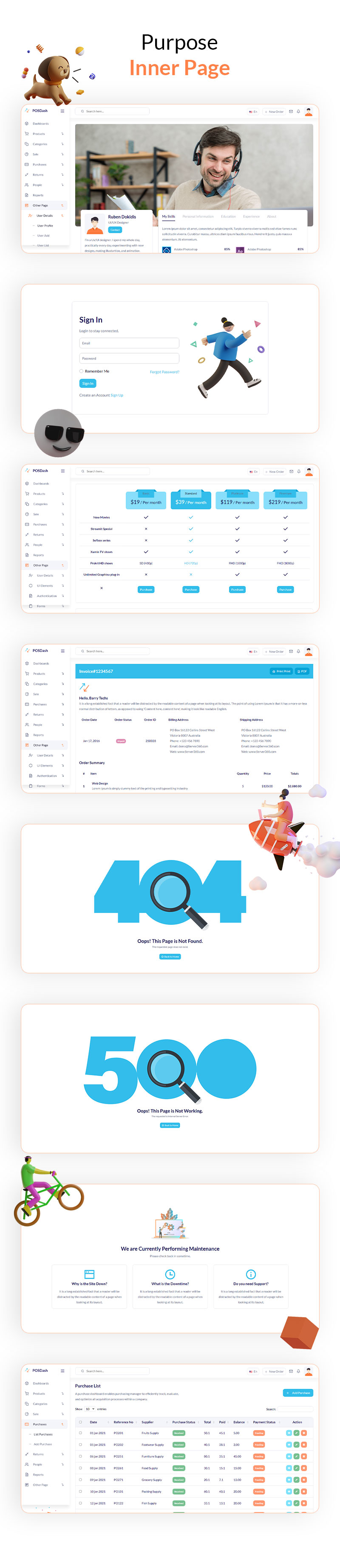 Dashboard UI Design Templates   PosDash   Iqonic Design vuejs html inventory admin template POSDash 4